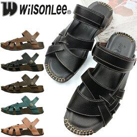Wilson Lee ウィルソンリー 2wayコンフォートサンダル。低反発クッションインソール、抜群の屈曲性で歩きやすい快適楽ちんサンダル。 スポサン スポーツサンダル