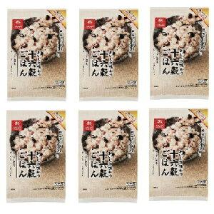 おいしさ味わう 十六穀ごはん 180g(1袋:30g × 6袋)× 6袋セット 4902571160830 はくばく ◆