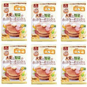 大麦と野菜のホットケーキミックス 300g(1袋:150g x 2袋)x 6パック セット まとめ買い 4902571224136 はくばく ◆
