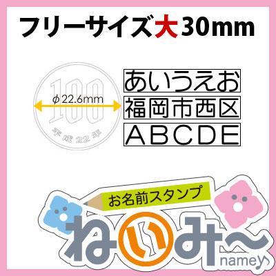 おなまえスタンプ【ねいみ〜♪】フリーサイズオプション【大】幅30mm