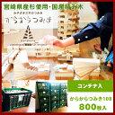 ◆からからつみき108(800枚)コンテナ入◆《 積み木 日本製 国産 》 天然木 木のおもちゃ イベント 卒園記念品 ギフト