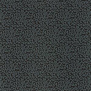 綿のふろしきシャンタン唐草(色:黒)105cm 風呂敷専門店・唐草屋