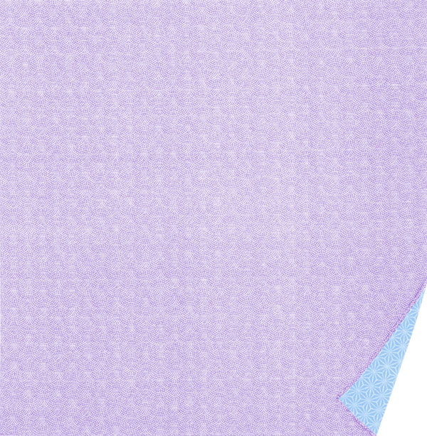 綿の風呂敷 両面染のふろしき 鮫小紋・麻型(色:ハトバ|水色)90cm 風呂敷専門店・唐草屋