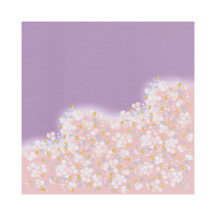綿の風呂敷宇野千代の愛した桜のふろしき裾野桜90cm 風呂敷専門店・唐草屋