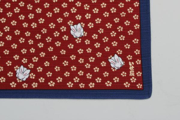 [在庫限りで販売終了]綿の風呂敷 江戸千代紙の老舗 いせ辰のふろしき うさぎ 90cm 風呂敷専門店・唐草屋