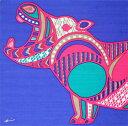 お弁当箱包み 綿の風呂敷(ふろしき) kaaroシリーズ「AFRICA」オオアクビ(カバ)50cm 風呂敷専門店・唐草屋
