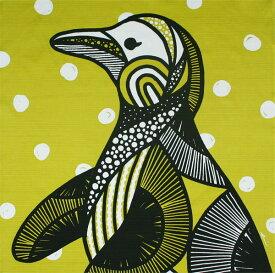 綿の風呂敷(ふろしき) kaaroシリーズ「AFRICA」ミナミノユメ(ペンギン)70cm 風呂敷専門店・唐草屋