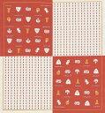 [お弁当箱包み]綿の風呂敷(ふろしき) 日本のかたち お弁当(オレンジ)50cm 風呂敷専門店・唐草屋