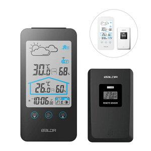 置き掛け兼用 多機能 温湿度計 時計 室内 室外 屋外 ワイヤレス デジタル 温度計 クロック 天気予報 アラーム スヌーズ 日付表示 湿度計 デジタル時計 温湿計 デジタル温度計 デジタル湿度計