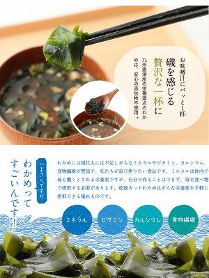 【無添加・無着色】九州唐津産乾燥カットわかめ80g送料無料ミネラルビタミンカルシウム食物繊維ワカメ若布乾燥わかめ