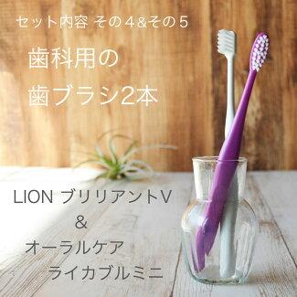 歯ブラシも2本お試し