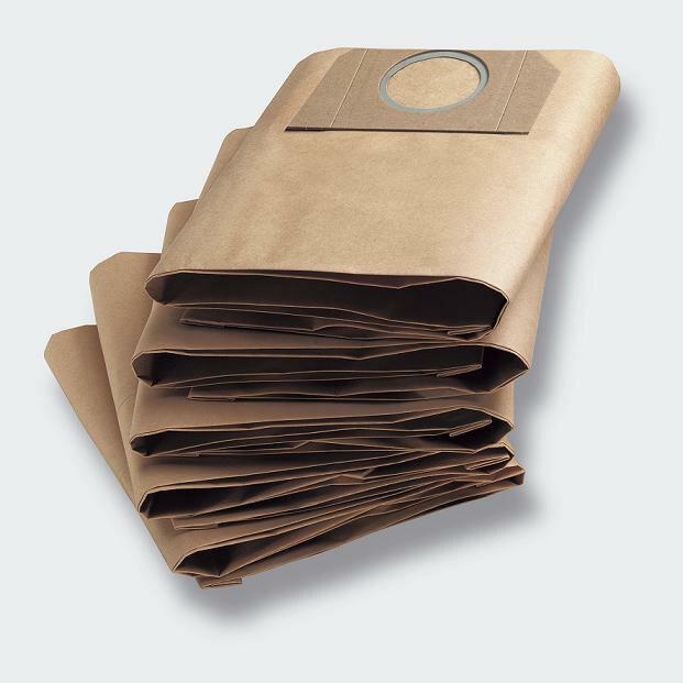 【ポイント10倍】紙パック 5枚セット(ケルヒャー KARCHER 家庭用 乾湿両用 バキューム クリーナー 掃除機 そうじ機 交換 部品 交換用 紙 フィルター バック)