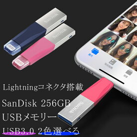 256GB SanDisk サンディスク iXpand Mini フラッシュドライブ Lightningコネクタ搭載 USB3.0 USBメモリー 海外リテール SDIX40N-256G-GN6ND SDIX40N-256G-GN6NG
