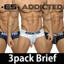 ADDICTED (アディクティッド) ≪お得な3枚組セット≫ 3 PACK MESH BRIEF PUSH UP ドットメッシュ タイトフィット …