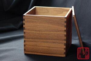 ウォールナット3段重箱松屋漆器6寸5〜6人用間仕切り無し内ナチュラル日本製