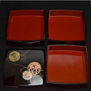 重箱おしゃれ日本製重箱3段6.5寸5〜6人用彩光てまり内朱胴張三段重北市漆器お正月迎春