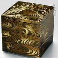 行楽・お正月・おせちに!日本製重箱3段6.5寸5〜6人用梨地香琳北市漆器