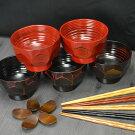 木の汁椀5+箸5+箸置き515点セット選べる福袋お正月迎春