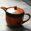 【ママ割限定P5倍】 木製ティーポット 茶こし付き 布貼り急須 大 約370cc おしゃれ ポイント
