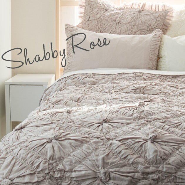 掛け布団カバー ベッドカバー シングル 【Shabby Rose】 ピンク 花柄 刺繍 インド綿100% おしゃれ かわいい 海外