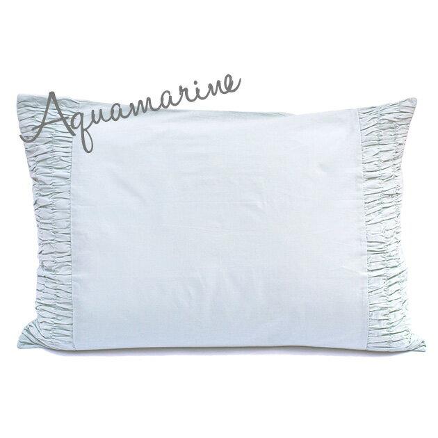 枕カバー ピローケース 50×70 【Aquamarine】 ブルー インド綿100% おしゃれ かわいい