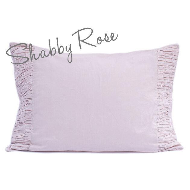 枕カバー ピローケース 50×70 【Shabby Rose】 ピンク インド綿100% おしゃれ かわいい