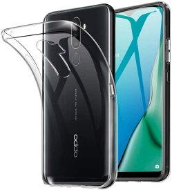 OPPO A5 2020 ケース TPU 透明 クリア 保護 お洒落 アクソンテンプロ シンプル カバー 衝撃 ソフトケース 吸収 アクセサリー スマホケース