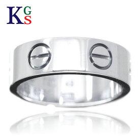 【サステナブル&ギフト品質】【名入れ】【4号〜14号】カルティエ/Cartier ラブリング レディースリング/指輪 ホワイトゴールド/K18 750 WG / B4084700 1015