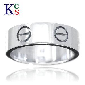 【サステナブル&ギフト品質】【名入れ】【15号〜25号】カルティエ/Cartier / リング 指輪 メンズ / ラブリング ホワイトゴールド K18 750 WG B4084700 1015