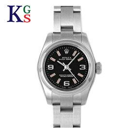 【ギフト品質】ロレックス ROLEX オイスターパーペチュアル ブラック文字盤 レディース 腕時計 ルーレット刻印 176200 誕生日 記念日 プレゼント ギフトラッピング 正規品【中古】