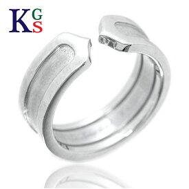 【ギフト品質】【名入れ】カルティエ/Cartier / ジュエリー 指輪 レディース ホワイトゴールド / 2C ロゴリング K18WG B4040500 1227