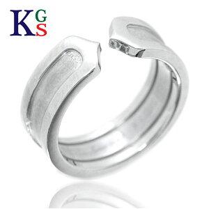 【ギフト品質】【SPECIAL梱包】【名入れ】カルティエ/Cartier / ジュエリー 指輪 レディース ホワイトゴールド / 2C ロゴリング K18WG B4040500 誕生日