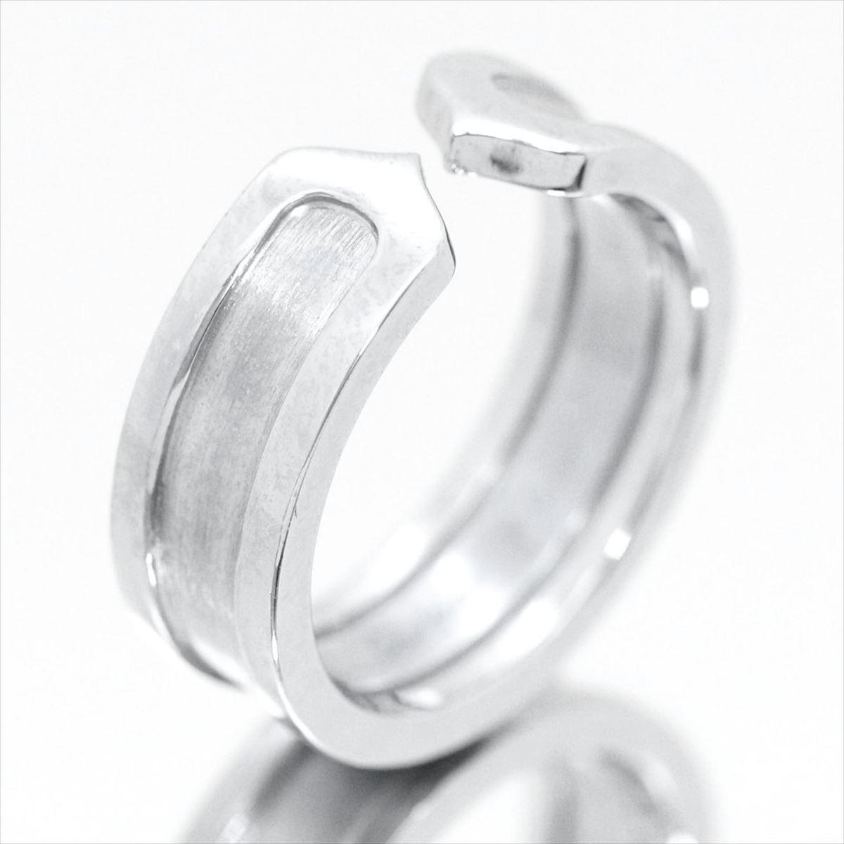 ★【新古品】カルティエ/Cartier ジュエリー 指輪 レディース ホワイトゴールド / 2C ロゴリング K18WG B4040500 / 【中古】