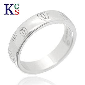 【ギフト品質】【SPECIAL梱包】【名入れ】カルティエ/Cartier / ジュエリー 指輪 ハッピーバースデー ロゴリング K18WG 750 ホワイトゴールド B4050900 1015