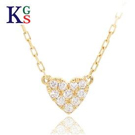 【新古品】アーカー/AHKAH ジュエリー レディース ネックレス ハートパヴェ K18YG イエローゴールド 10Pダイヤモンド 0.05ct