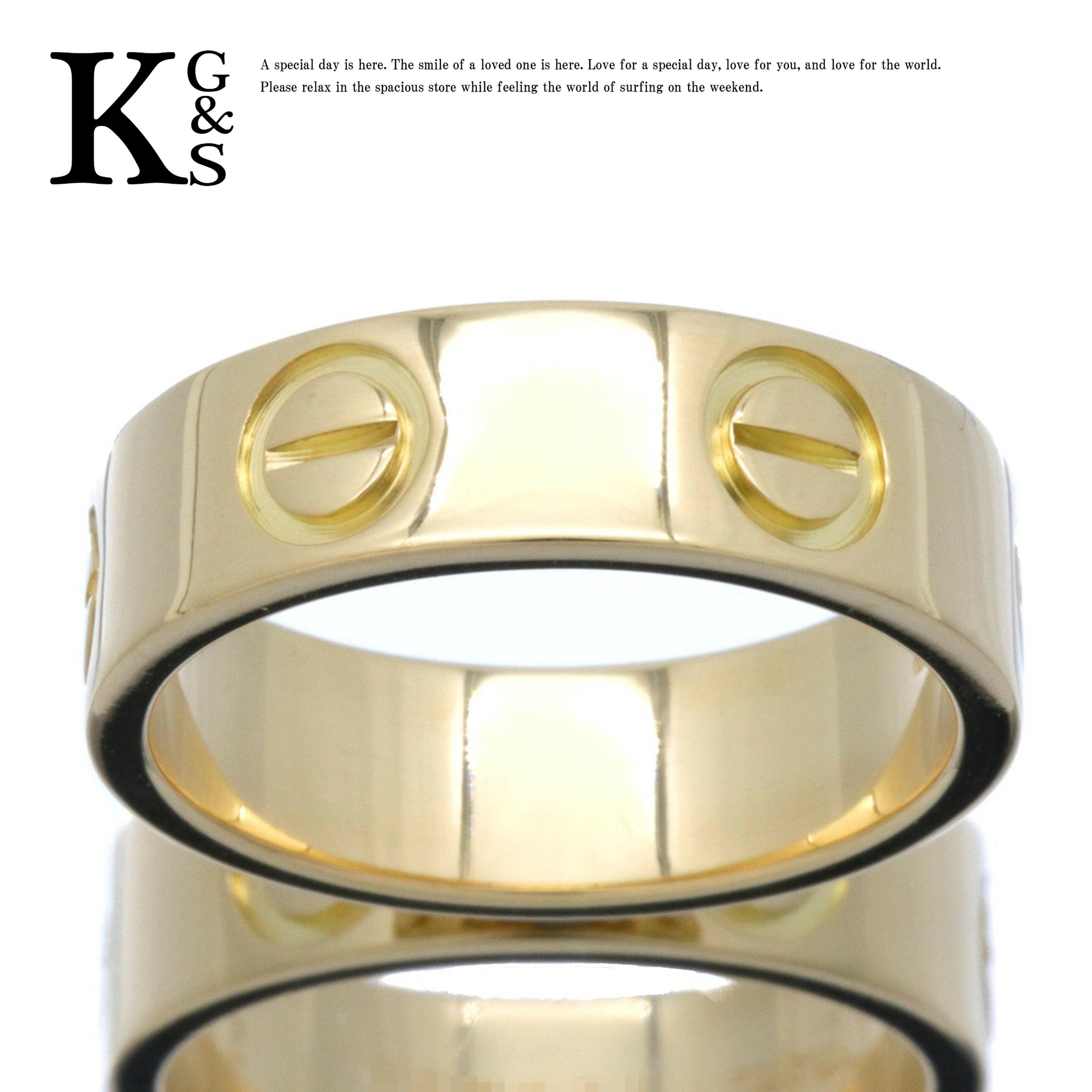 【新古品】【4〜15号】カルティエ/Cartier / ラブリング love / レディース アクセサリー 指輪 / K18 750 YG イエローゴールド / 7号 8号 9号 10号 11号 12号 13号 14号 15号 / B4084600