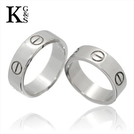 【サステナブル&ギフト品質】【名入れ】【セット販売】【4号〜24号】/Cartier / カルティエ ペアリング / ラブリング ホワイトゴールド/K18 750 WG 2点 B4084752 / メンズ レディース マリッジリング 結婚指輪 1015