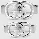 【ブランド】グッチ【GUCCI】ジュエリー ペアリング シルバーブリット SV925 GG リング / ロゴリング 指輪 メンズ レディース 190483 J8...