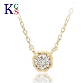 【ギフト品質】AHKAH/アーカー ジュエリー ネックレス 1Pダイヤモンド K18YG イエローゴールド / ティア ネックレス レディース ワンポイント 1015