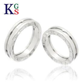 【新古品】【セット販売】【4号-22号】ブルガリ/BVLGARI ペアリング / B.ZERO1 ビーゼロワン リング / レディース メンズ シルバー 指輪 / K18WG ホワイトゴールド