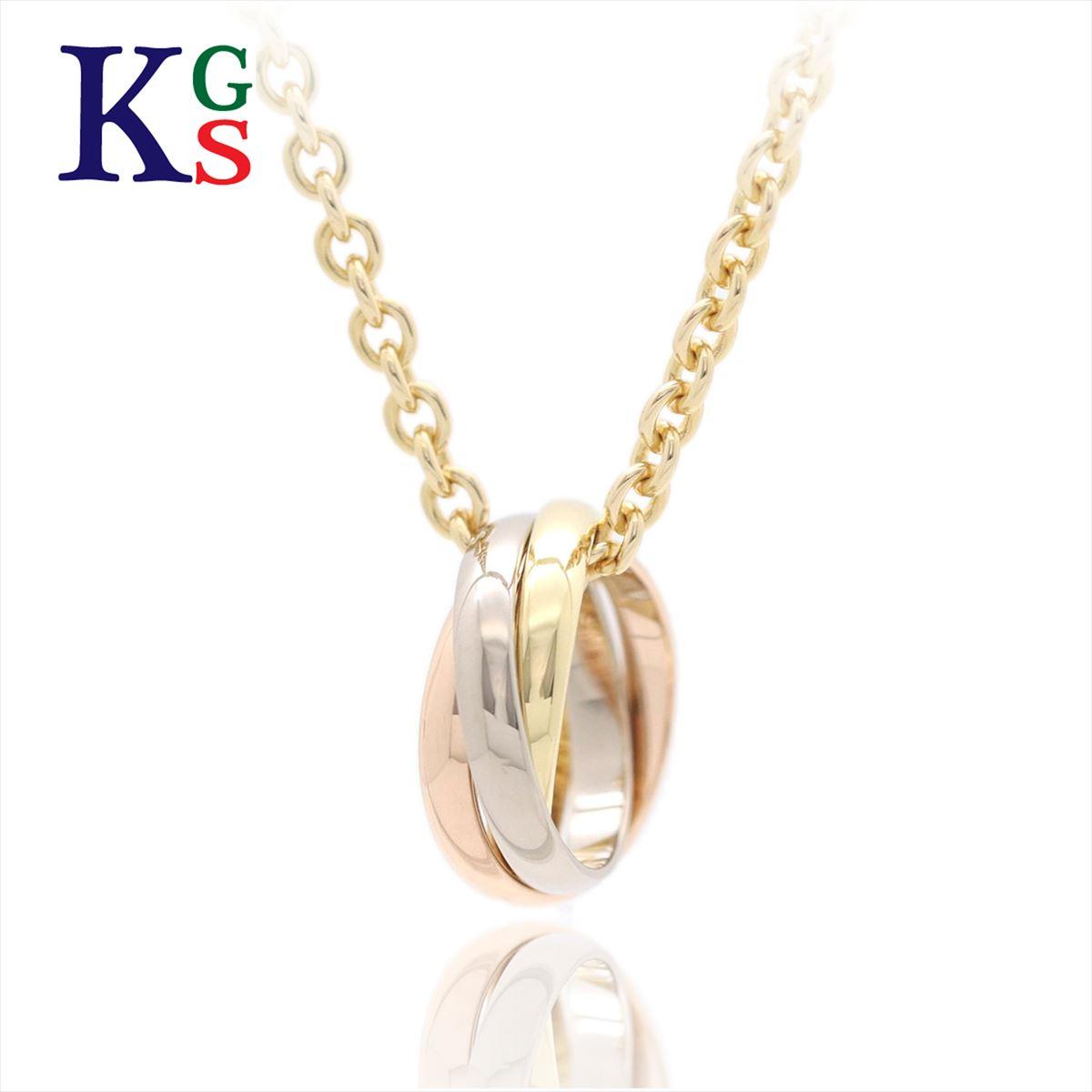 【新古品】カルティエ/Cartier / トリニティ ドゥ カルティエ ネックレス レディース K18YG/イエローゴールド K18PG/ピンクゴールド K18WG/ホワイトゴールド