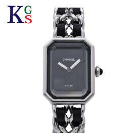 【ギフト品質】シャネル/CHANEL プルミエールM シルバー H0451 レディース 腕時計 ブラック クォーツ レザー×SS 1015