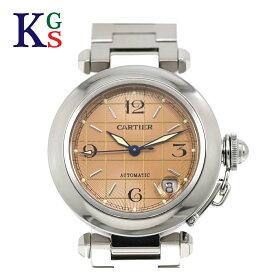 【新古品】カルティエ/Cartier レディース パシャC サーモンピンク文字盤 2324 腕時計 ステンレススチール オートマティック 自動巻き W31024M7