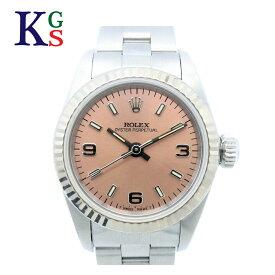 【ギフト品質】ロレックス/ROLEX レディース 腕時計 オイスターパーペチュアル 67194 ピンク文字盤 自動巻き ステンレススチール×ホワイトゴールド 誕生日 記念日 プレゼント ギフトラッピング 正規品【中古】