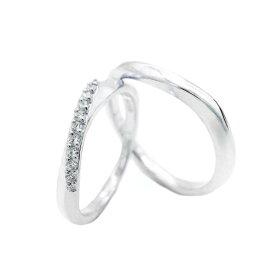 【ギフト品質】【名入れ】ヨンドシー/4°C ペアリング マリッジリング シルバー キュービックジルコニア SV925 結婚指輪