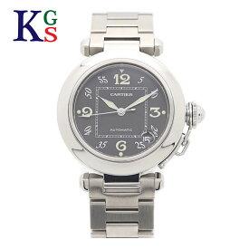 【新古品】カルティエ/Cartier レディース メンズ 腕時計 パシャC スモールデイト ブラック文字盤 自動巻き W31043M7 ステンレススチール