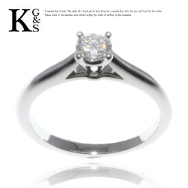 【ギフト品質】【SPECIAL梱包】【名入れ】【0.19ct】カルティエ/Cartier レディース ジュエリー ソリテール エンゲージリング 婚約指輪 Pt950 1Pダイヤモンド 1015