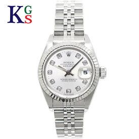 【ギフト品質】ロレックス/ROLEX レディース 腕時計 デイトジャスト シルバーxホワイトゴールド コンビ 新10Pダイヤモンド ステンレススチールxK18WG シルバー文字盤 69174G