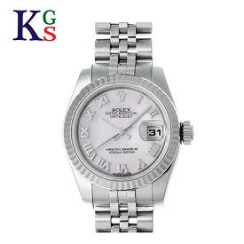 【ギフト品質】ロレックス/ROLEX レディース 腕時計 デイトジャスト ピンクシェル文字盤 K18WG×SS 自動巻き 179174NR