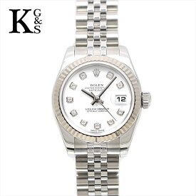 71018e9c2f 中古 【新古品】ロレックス/ROLEX レディース 腕時計 デイトジャスト 26mm 10Pダイヤ ホワイト文字盤 K18WG×ステンレススチール  自動巻き 179174G